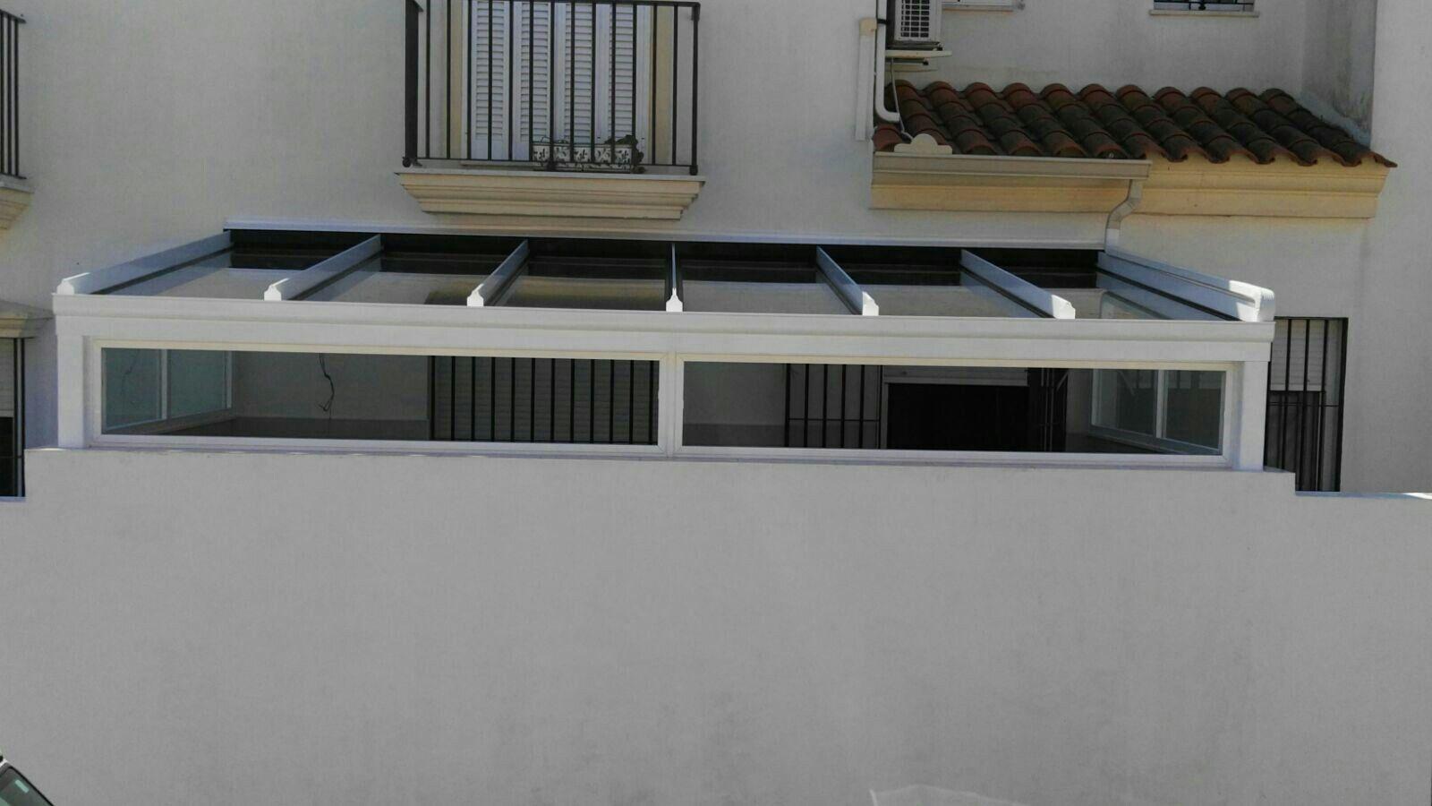 Techo fijo ESPALUZ de vidrio protección solar