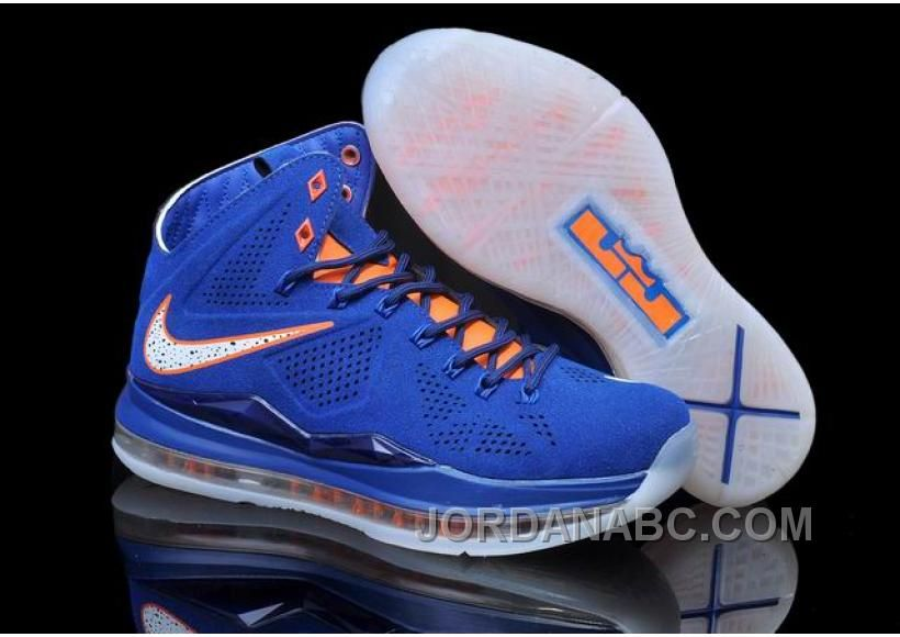 lowest price 939a4 78d93 Nike LeBron X EXT Cork QS Blue Orange, Price   102.00 - Air Jordan Shoes,  New Jordans