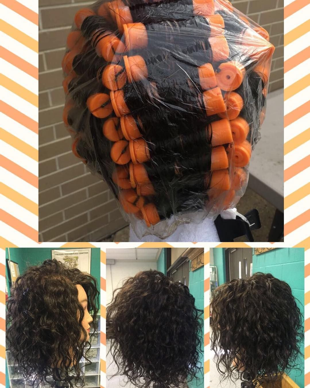 Perm Before And After Really Proud Of It Perm Cosmetology Beautiful Permed Hairstyles Short Permed Hair Long Hair Perm