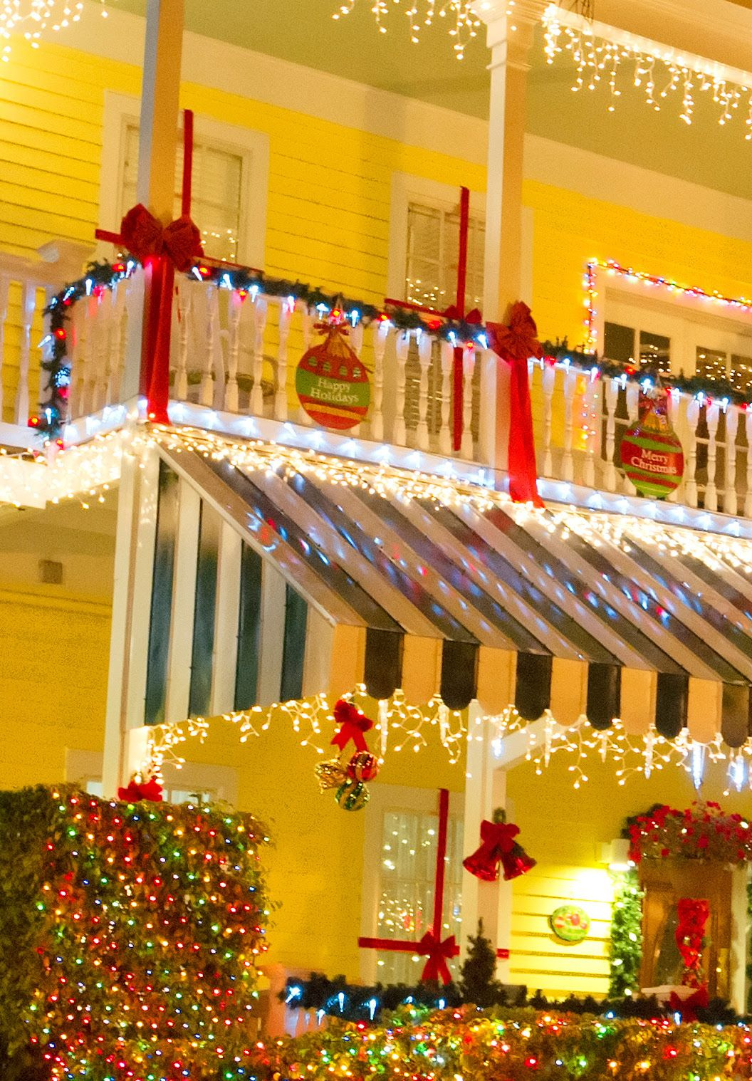 New Home Interior Design Key West Vacation Home: Striped Green And White Awnings Are Like Green Candy Cane Back Drops For #KeyWestChristmas