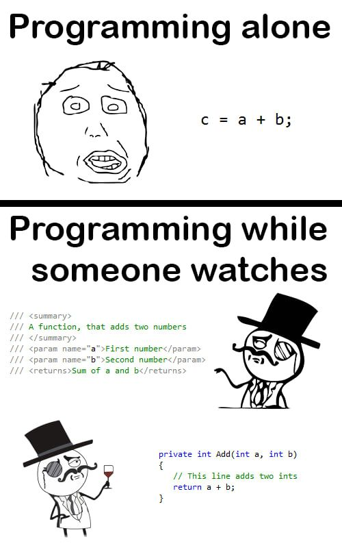 Coding While Someone Is Watching Programmer Humor Programming Humor