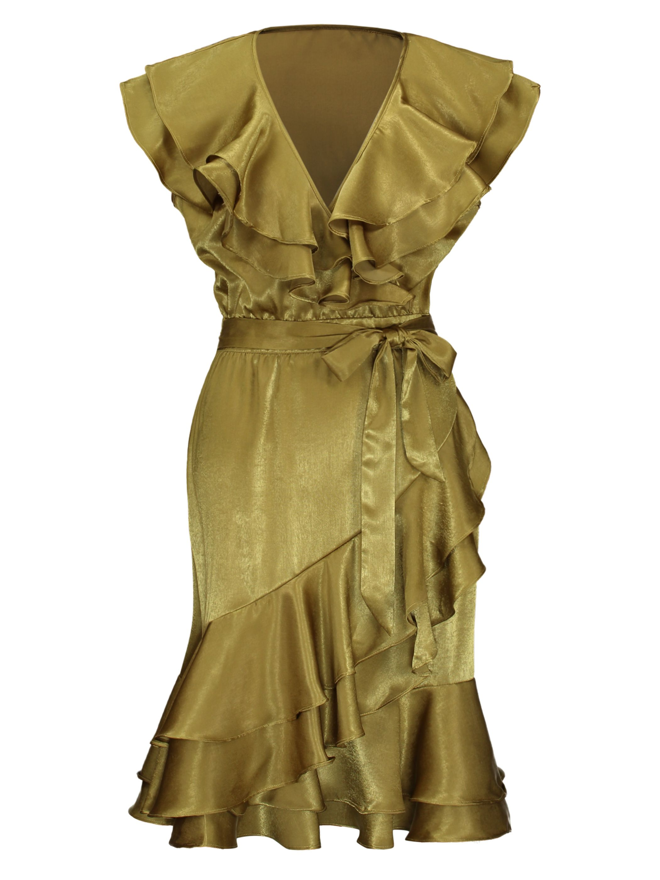 Plus size pin up style wedding dress  Falbala Patchwork Asymmetrical Day Dress  Patchwork
