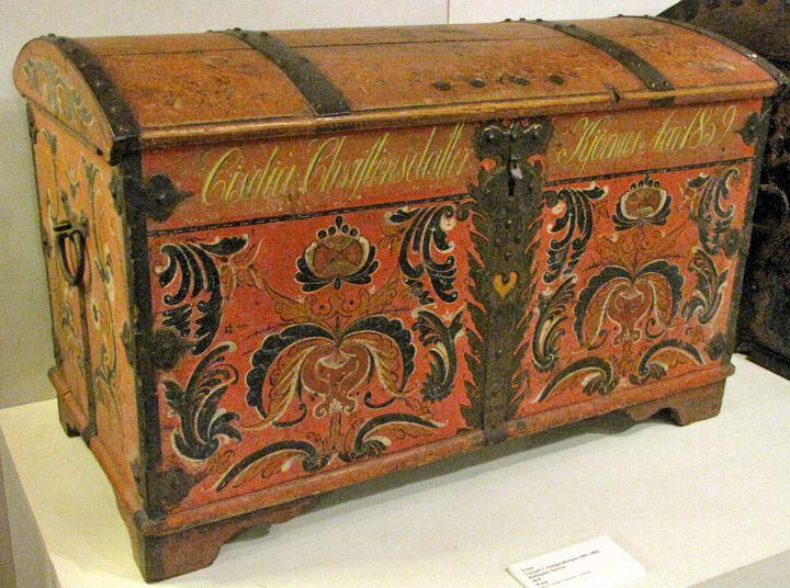 Vintage Wooden Chest Trunk