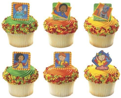 Caillou Birthday cupcakes BirthdayCaillou theme Pinterest