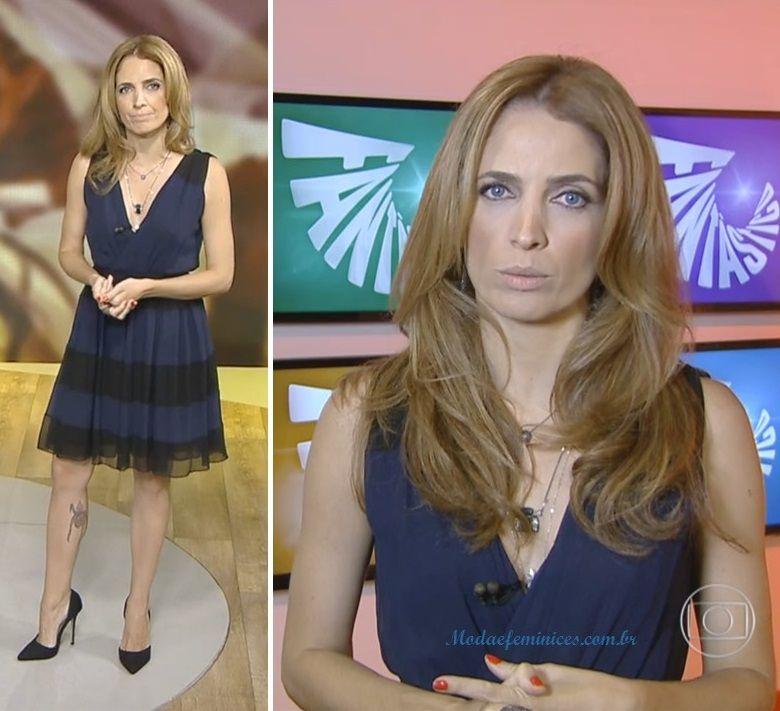 Look da Poliana Abritta no Fantástico 21 de Fev