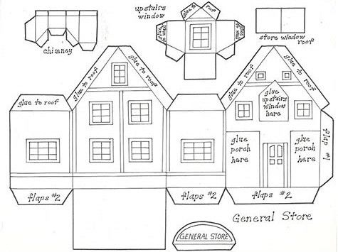 Image Result For Victorian Putz House Templates Paper House