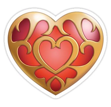 LEGEND OF ZELDA HEART CONTAINER VINYL STICKER