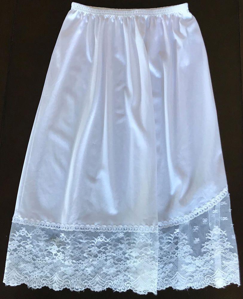 6cb03963a2 Gorgeous Vanity Fair Half Slip with Gorgeous Lace Trim Size PTE #VanityFair  #Slip