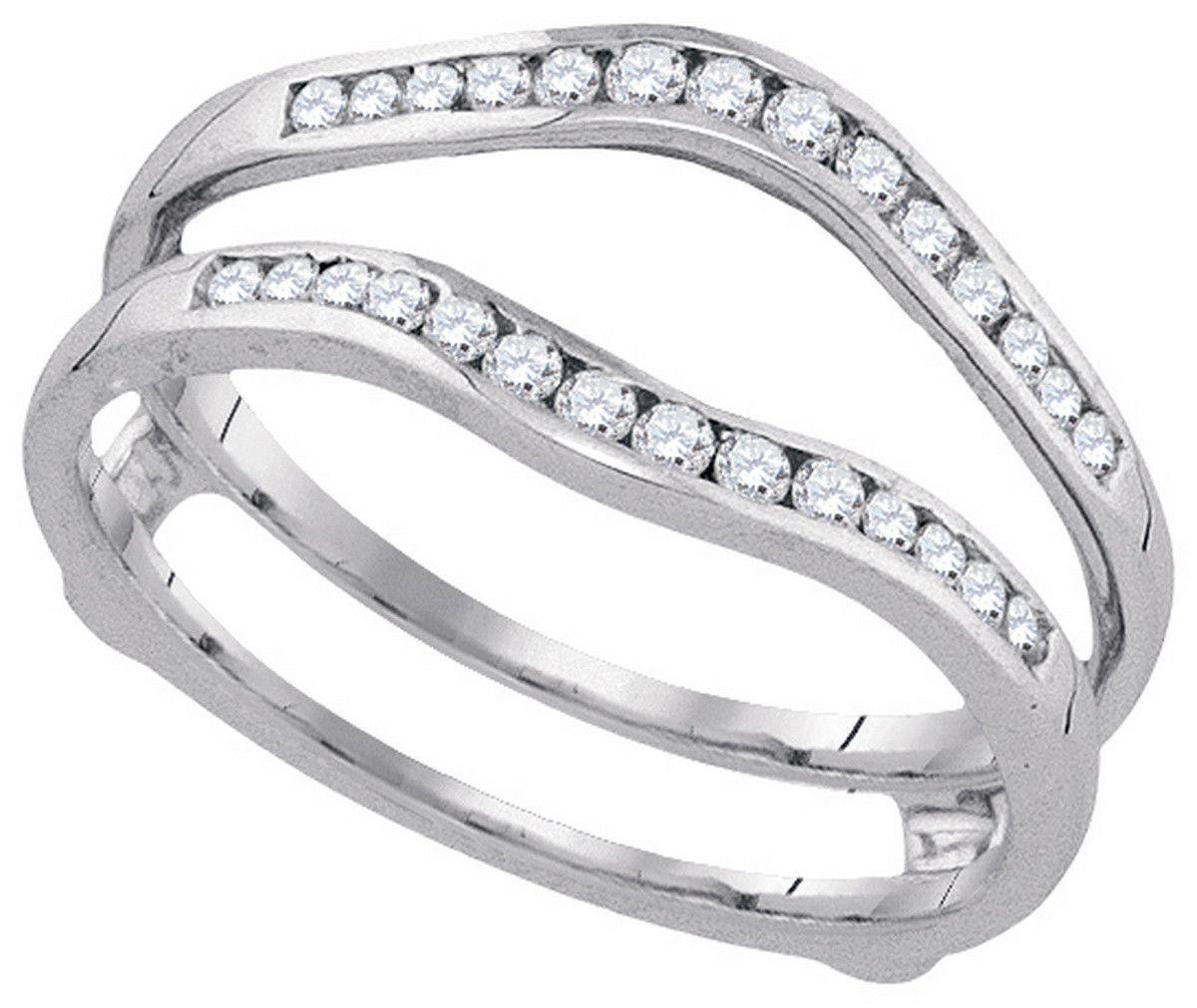 14k White Gold Womens Natural Round Diamond Wedding Bridal