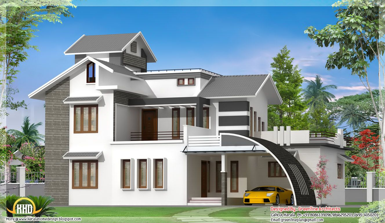 Simple Exterior House Designs In Kerala indian kerala home design - home design ideas