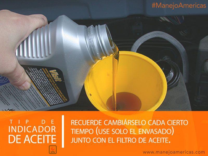 Indicador del aceite de tu auto
