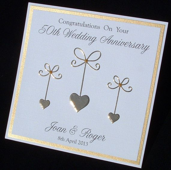 Golden Anniversary Card 50th Anniversary Card Wedding