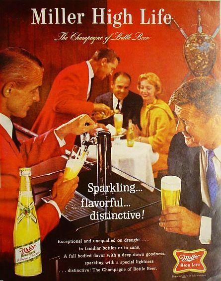 1965 Miller beer ad   1960's   Pinterest