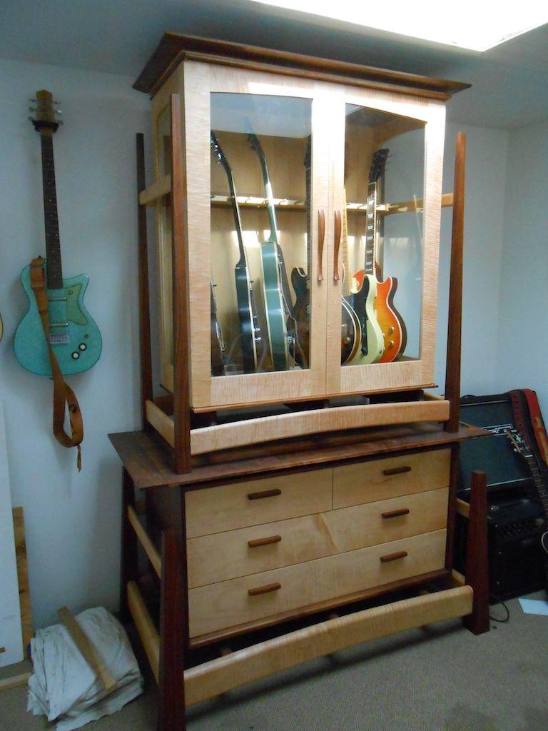 Guitar Cabinet Music Furniture Guitar Storage Guitar Room