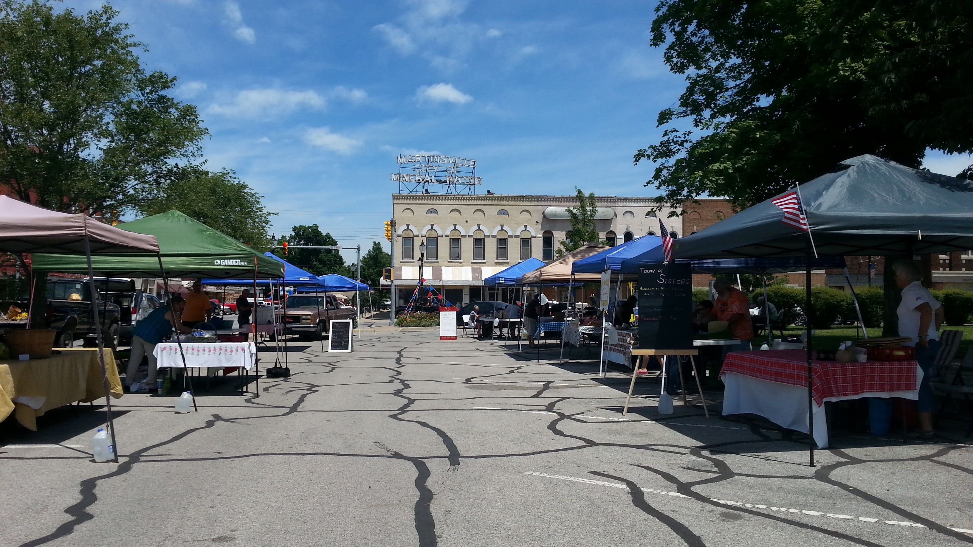 The County Farmers' Market takes place in
