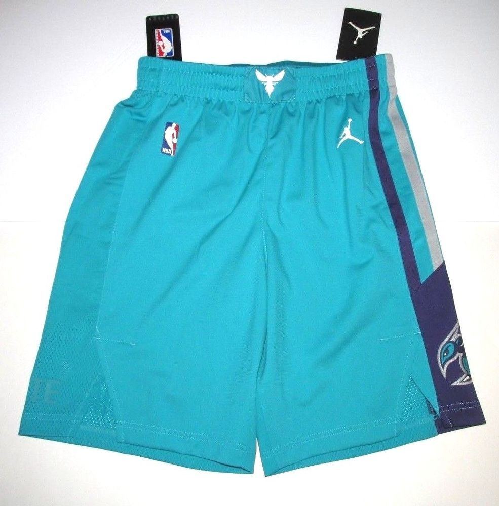347be99b104 Jordan Charlotte Hornets NBA Icon Authentic Mens Shorts M 34R Teal 866371  428 #Jordan