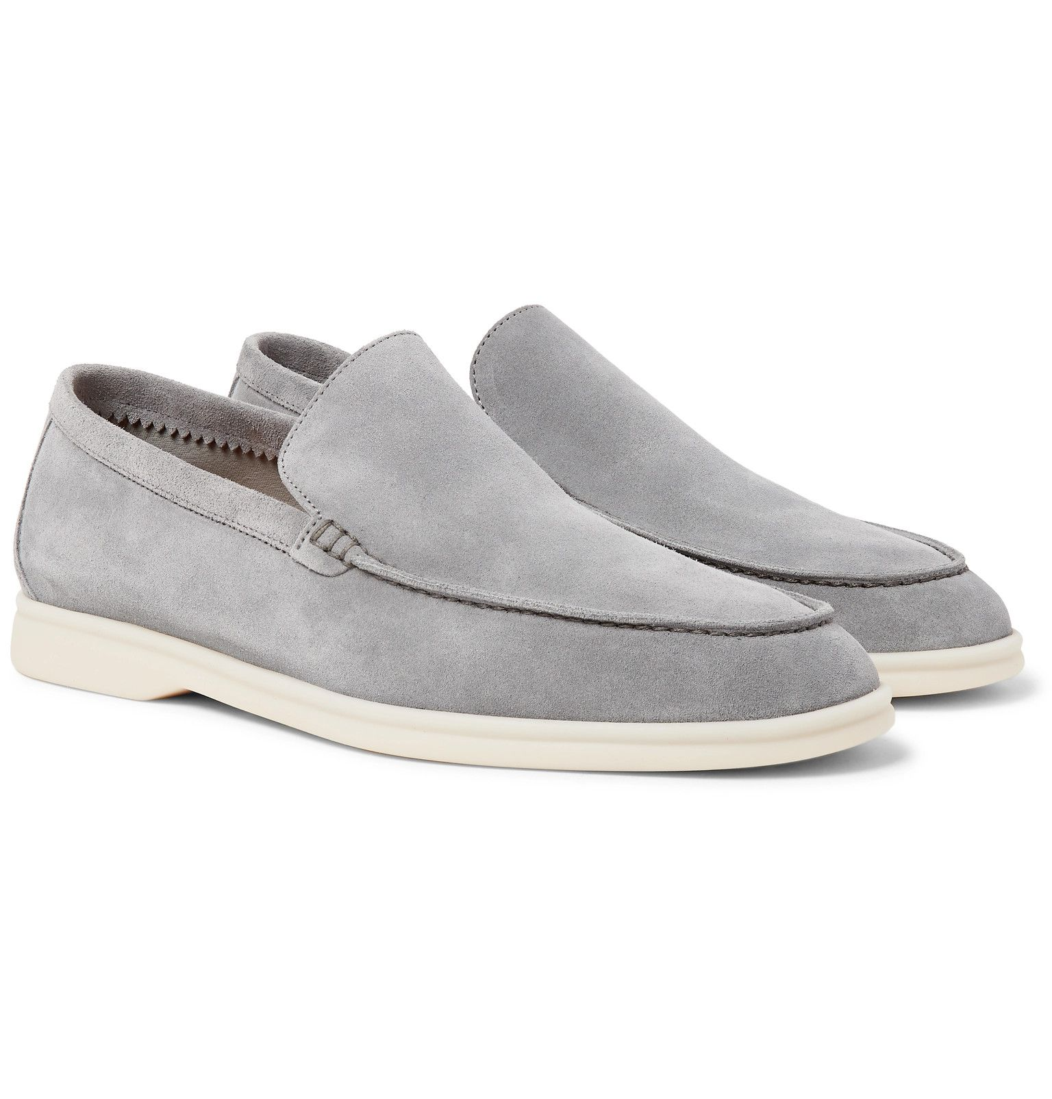 Light gray Summer Walk Suede Loafers