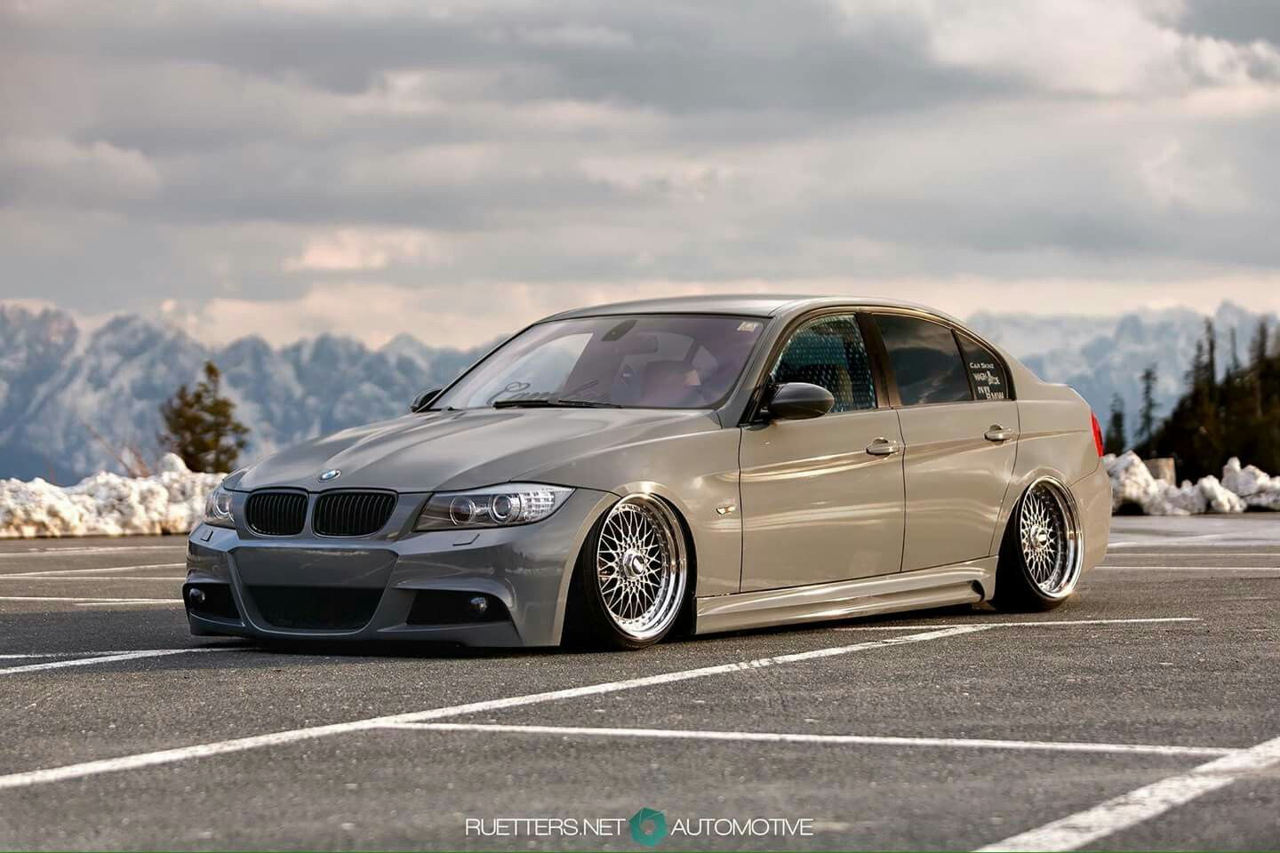 Bmw E90 3 Series Tan Slammed With Images Bmw