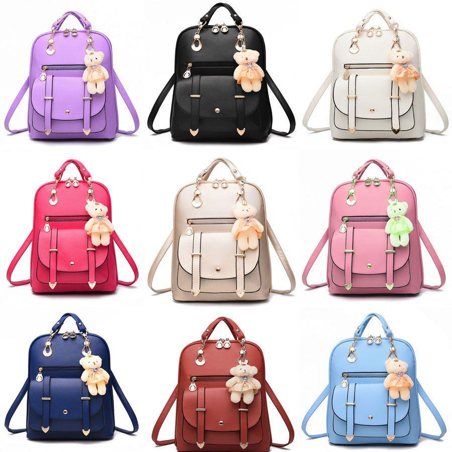 Fashion Women Leather Backpack Tote Handbag Travel Shoulder School Bag  Satchel 0afbaad87a