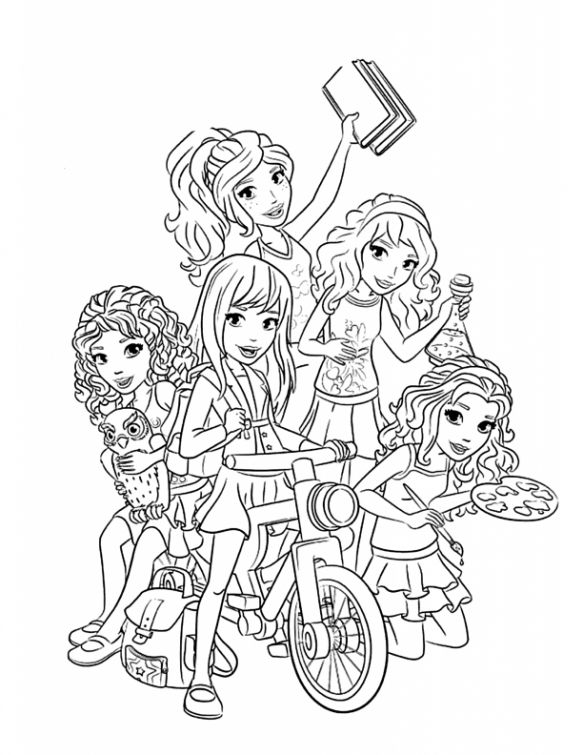 All characters from Lego Friends coloring pages free for girls ...