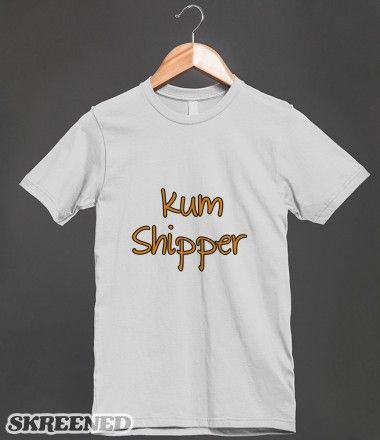 """Kum Shipper"" T-Shirt Design from my Glee Clothes Store! click to buy! (t-shirt requests can be made here, or at nickziall.tumblr.com/ask) #Glee #KurtHummel #SamEvans #Kum"