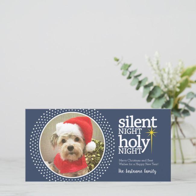 Night Holy Night Christian Christmas Holiday Card ChristianSilent Night Holy Night Christian Christmas Holiday Card Christian