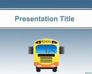 Free school bus powerpoint template with blue background and ready free school bus powerpoint template with blue background and ready for schools and elementary school ppt toneelgroepblik Images