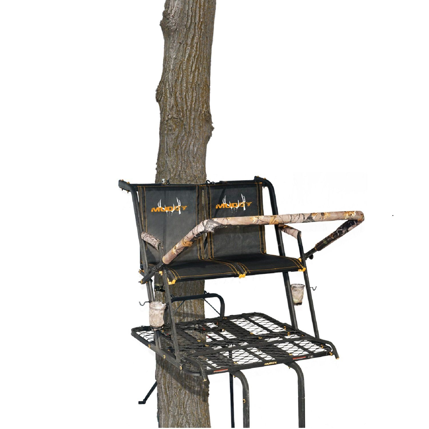 Muddy Mls2601 Nexus Xtl 2 Man With Tree Lok System 20 Ladderstand Black Https Huntinggearsuperstore Com Product Muddy Mls2601 Ladder Stands Nexus System