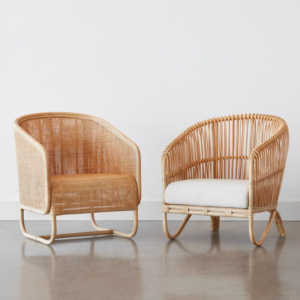 Modern Rattan Lounge Chair Handcrafted In Indonesia The Citizenry In 2020 Rattan Lounge Chair Plush Lounge Chair Lounge Chairs Living Room #plush #living #room #chairs