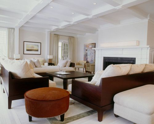 contemporary living room hamptons estate project completed by