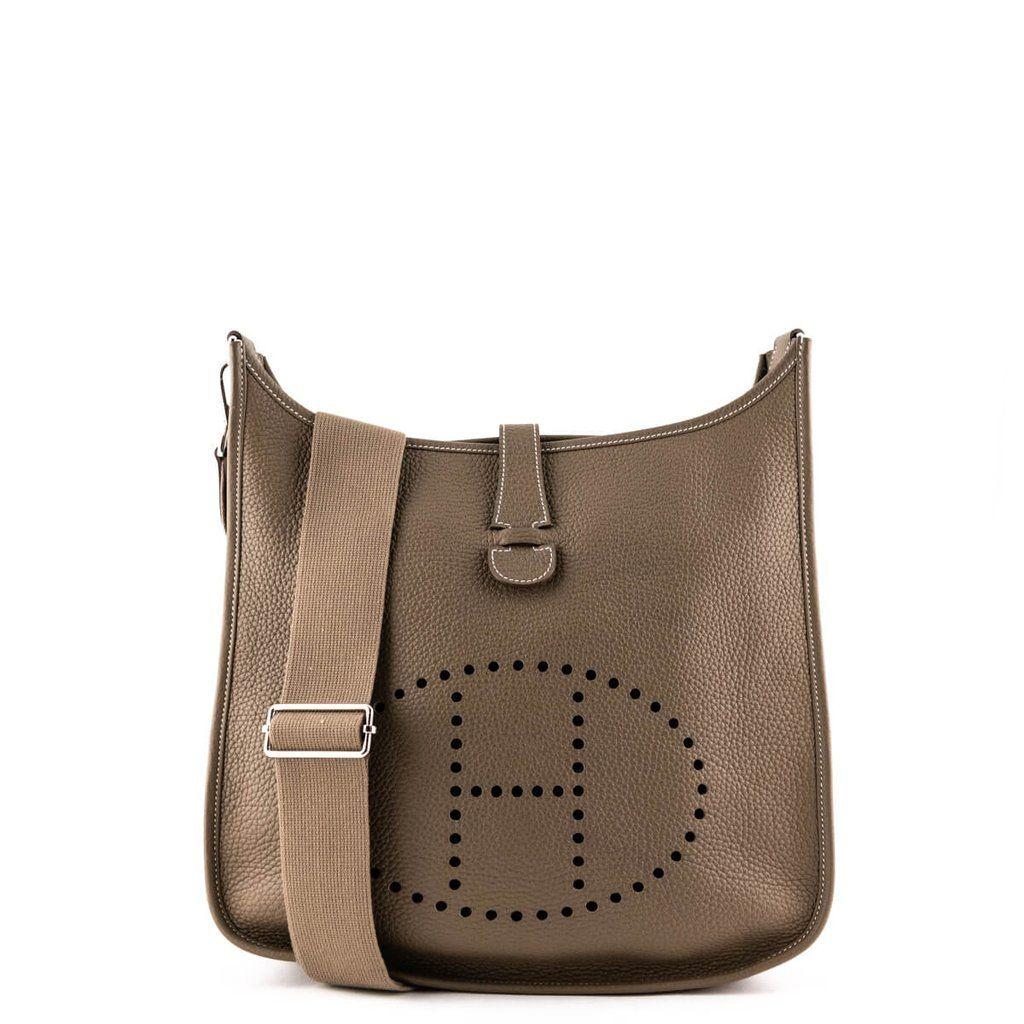 Hermes Etoupe Togo Evelyn Iii Preowned Hermes Handbags Canada Hermes Handbags Hermes Chic Handbags