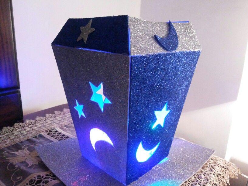 فانوس رمضان بورق الفوم Candle Holders Candles Gaming Logos