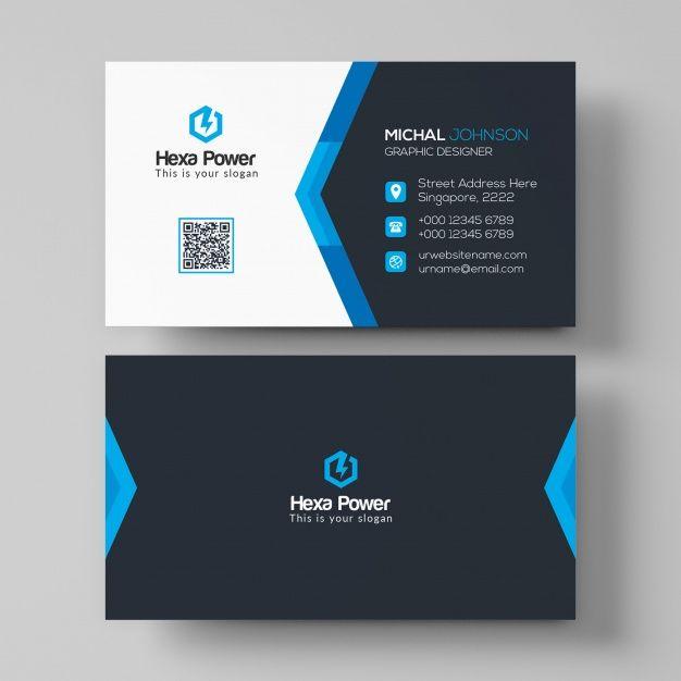 Dark And Blue Business Card Mockup Printing Business Cards Business Card Mock Up Blue Business Card