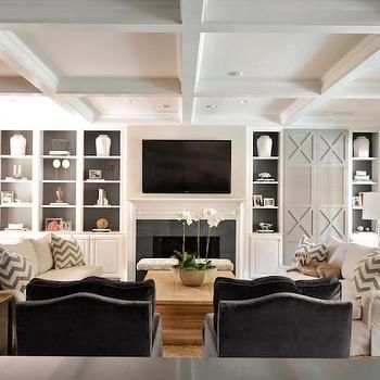 Painted Black Beams With White Tongue And Groove  Chic Living Magnificent Cabinet Design For Living Room Review