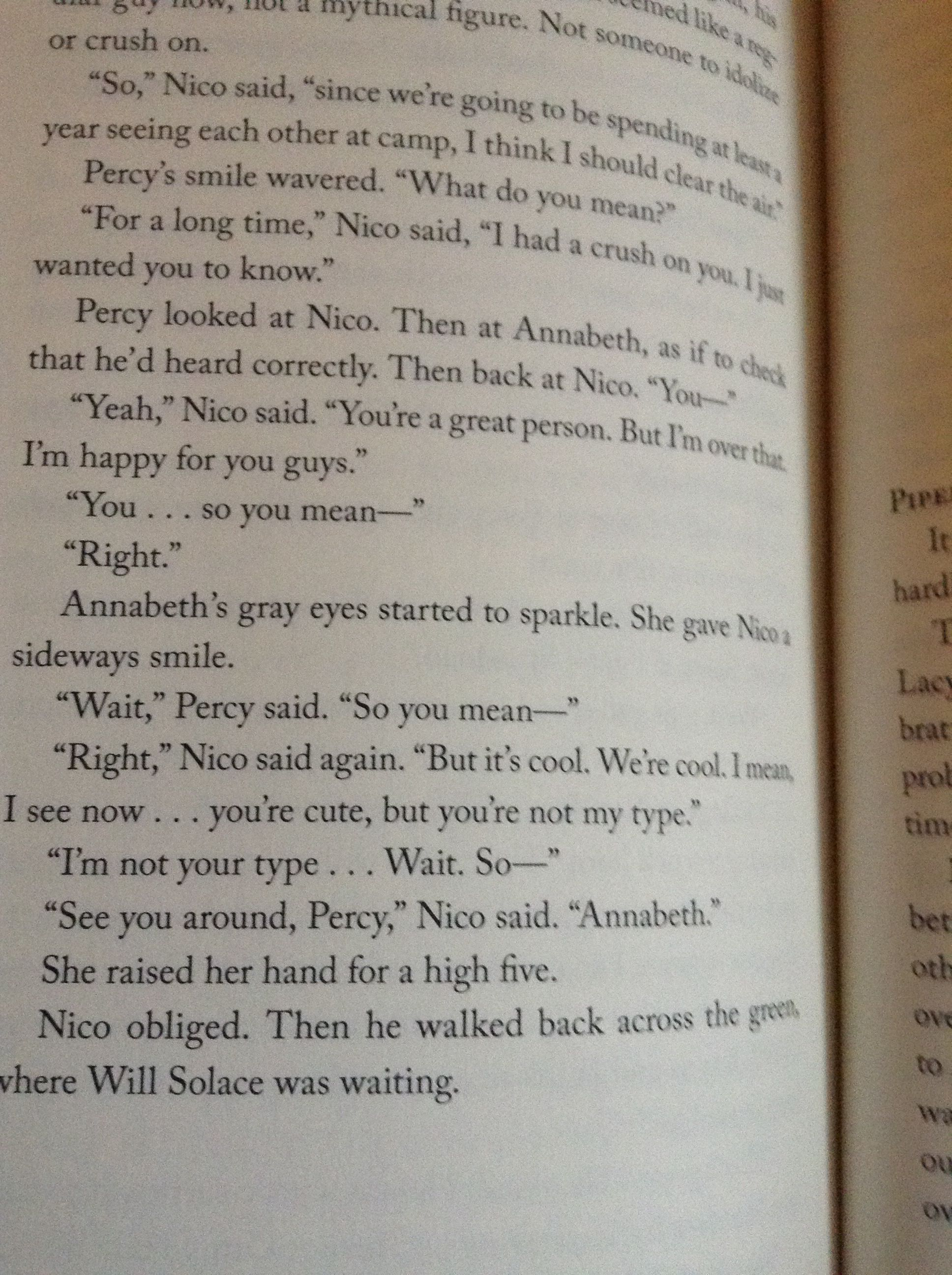 Nico's Confession to Percy- Blood of Olympus OMG!! I'm still dying