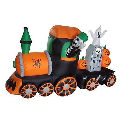 Inflatable Halloween Decoration Skeleton On Train Indoor Outdoor - outdoor inflatable halloween decorations