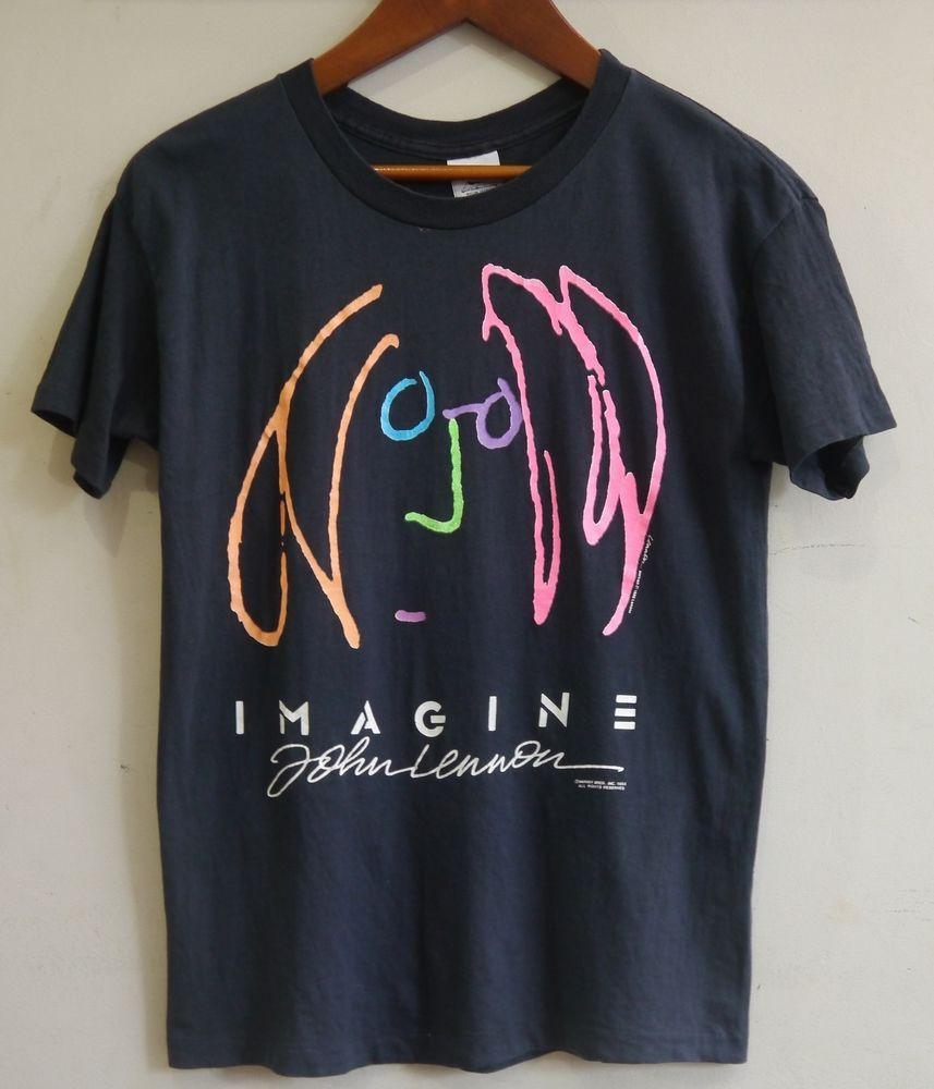 e17b88fb1 vintage 80s JOHN LENNON IMAGINE t-shirt the beatles yoko ono george  harrison  GreatSouthernCompany