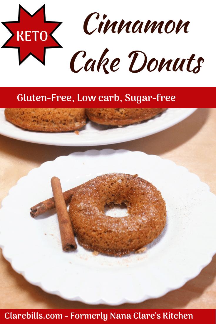 Keto Cinnamon Cake Donuts Recipe Cinnamon Cake Keto Donuts Keto Bread