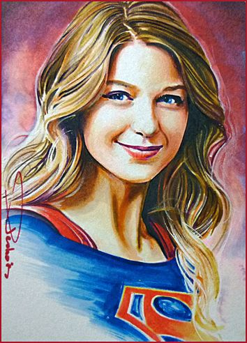 Portrait Of Supergirl By Daviddeb Supergirl Drawing Supergirl Supergirl Tv