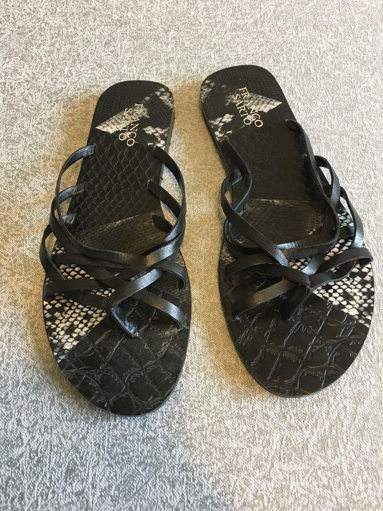 0c6ec715c460 Franco Sarto Sandals Womens Size 9 Swahili Black Graphic Print  fashion   clothing  shoes