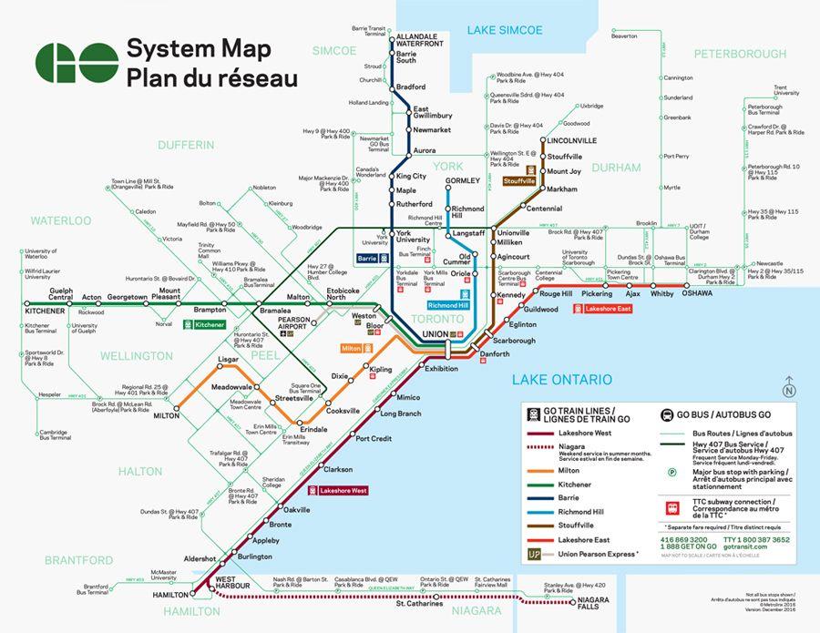 1 Train Toronto Subway Map Nyc.Go Transit System Map Notrouble Go Transit Train Map Bus Map