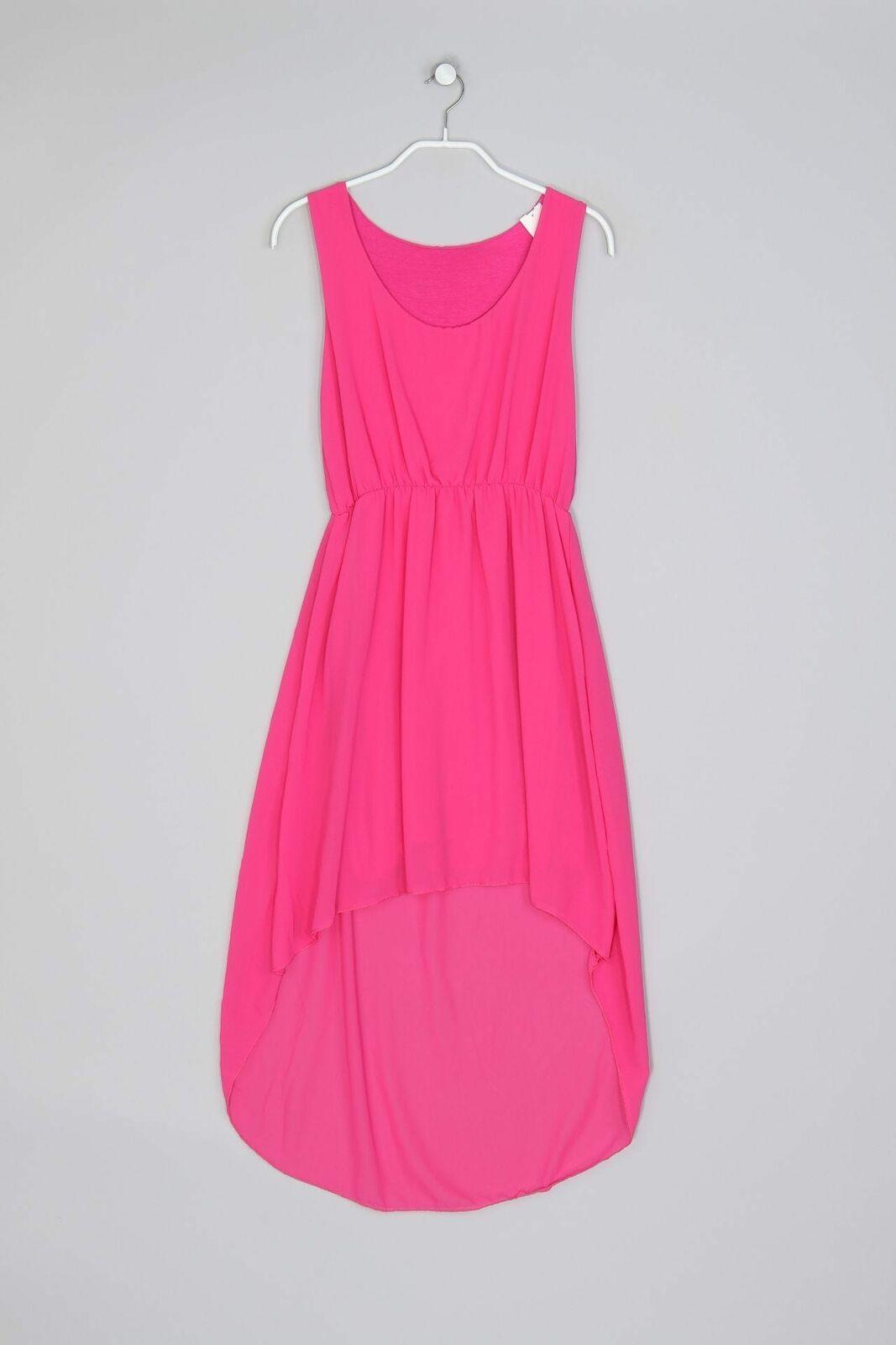 Vokuhila-Kleid S pink Damen Dress Robe in 12  Pinkes kleid