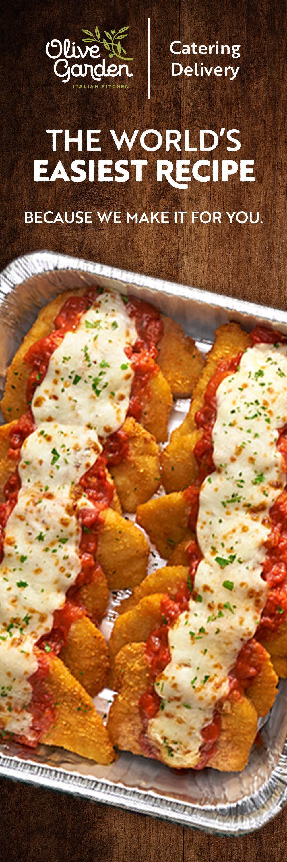 Go Easy On Yourself This Holiday Season With Olive Garden Catering Irresistible Dishes Delivered Piping Hot To Your Front Door Recipes Food Cooking