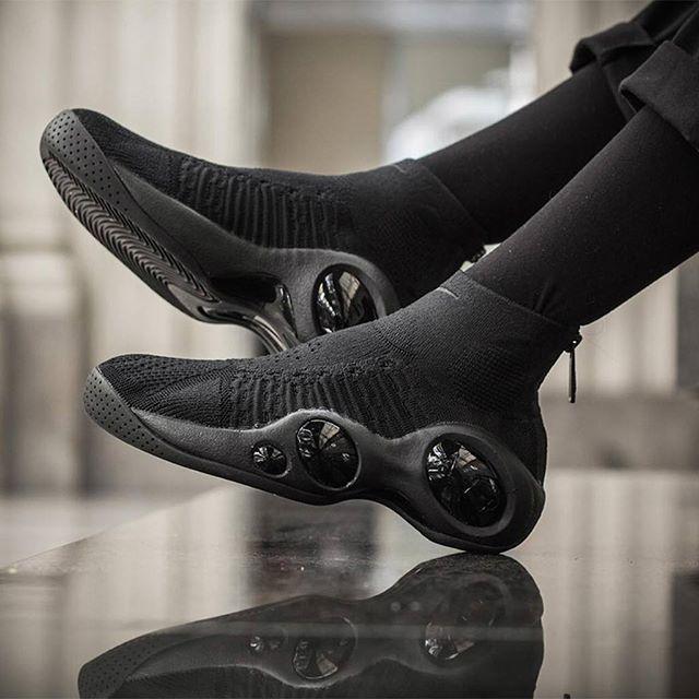 84bf9e5150a8 Nike s  Triple Black  Bonafide designed by basketball ninjas from outer  space. Pic via  24kilatesbcn via SNEAKER FREAKER MAGAZINE OFFICIAL  INSTAGRAM ...