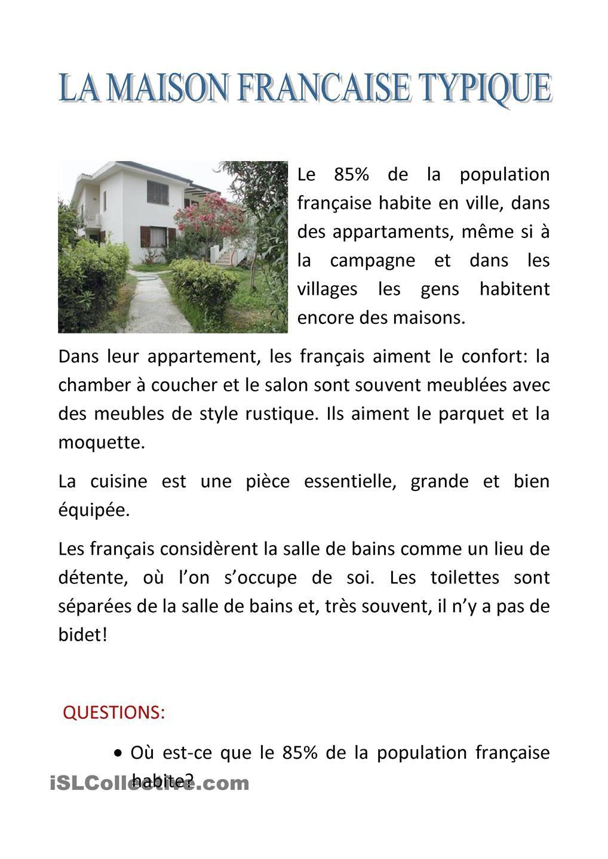la maison | L\'enseignement du français, Maisons françaises ...