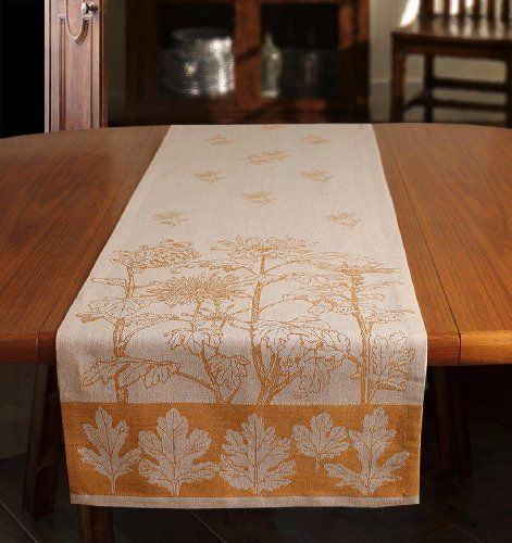 Table Runner 90 Inch Length In Jacquard Linen Cotton, Finezza Gentile By  Armani International