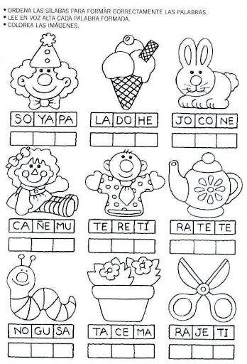 Actividades Para Preescolar Pintar Y Jugar Caminito De La