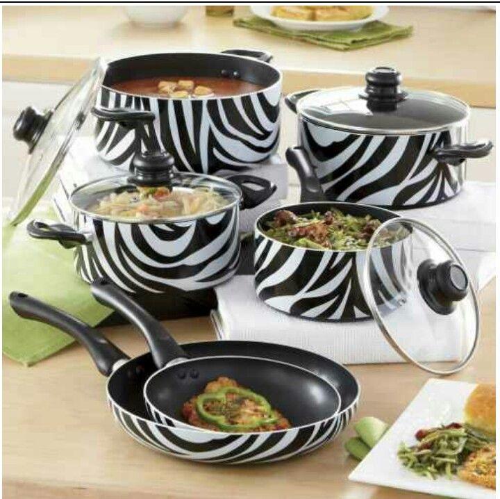 Cool Pot Set Pots And Pans Sets Zebra Decor Cookware Cheetah Print