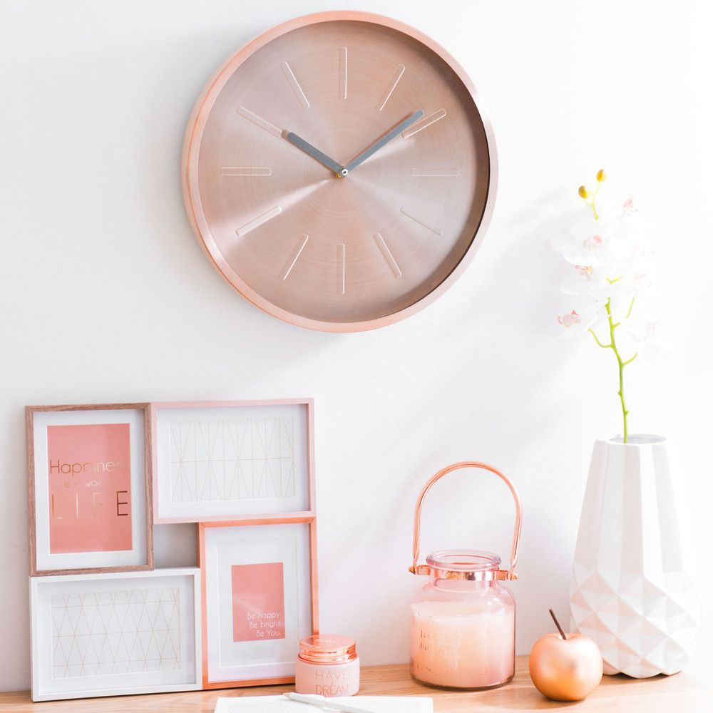 decoration murale rose gold