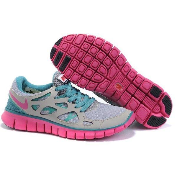 nike free run damen blau pink